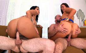 Foxtube - Diamond Kitty, Nikki Lavay, Dwie Kobiety I Dwóch Mężczyzn
